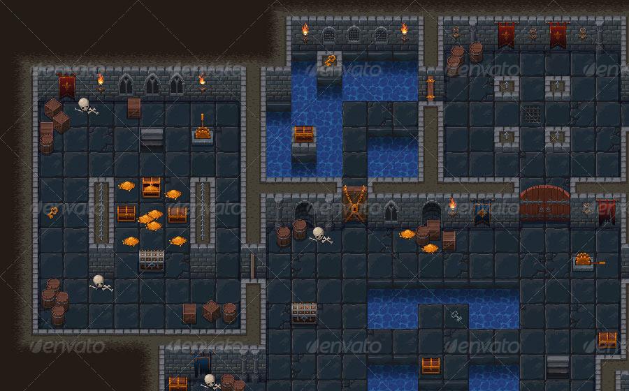 A Dungeon Tileset