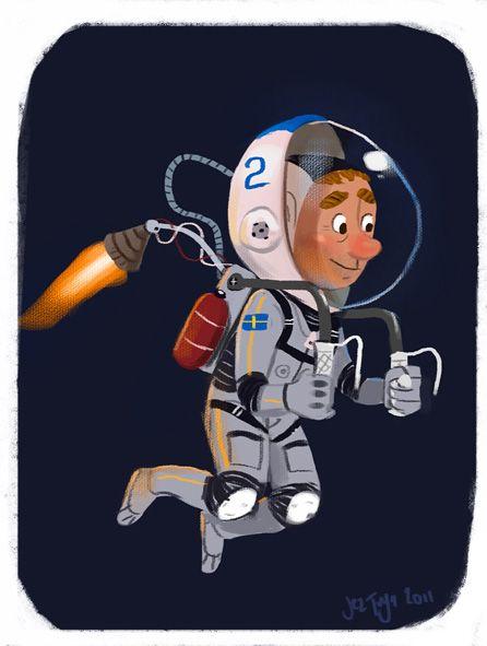 space man by Jez Tuya.