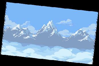 glacier mountain paralax background.